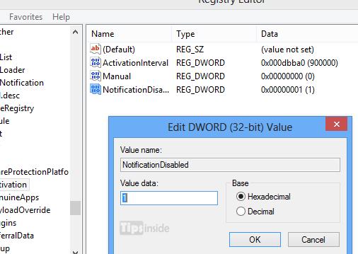 Windows 8 pro build no watermark using registry